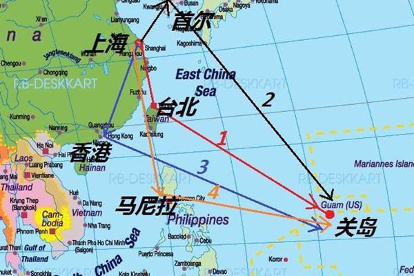 关岛离中国多远